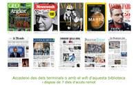 La Biblioteca de Roses dóna accés a més de 5.000 diaris i revistes de tot el món gràcies a la plataforma PressReader