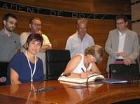La consellera de Governació, Administracions Públiques i Habitatge visita Roses per parlar de l'habitatge social