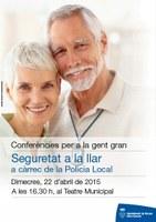 La seguretat a la llar centra l'atenció de la propera xerrada per a gent gran a Roses