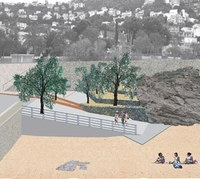 L'accés a la platja dels Palangrers s'enjardinarà i en una segona fase s'ordenarà l'aparcament