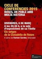 L'historiador Ramon Sarobe parla dels setges de Roses en el marc de l'actual exposició de la sala Ca l'Anita