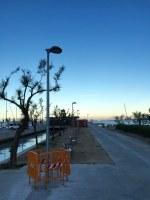 Millores d'enllumenat i enjardinament al passeig sobre l'espigó de la riera de la Quana, al Port Esportiu Municipal