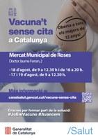 Noves dates de vacunació sense cita prèvia a Roses