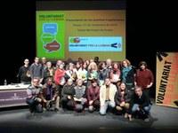 Presentació del llibre Els jocs retrobats en el marc del programa Parelles Lingüístiques de Roses, que enguany compte amb 54 participants