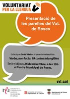 """Presentació del llibre """"Verba, non facta. 99 contes intangibles"""" en el marc del programa Voluntariat per la llengua"""