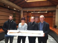 Restaurat el fusell d'època napoleònica donat per Jordi Marés al poble de Roses