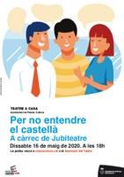 """Roses Cultura a Casa ofereix en línia aquest dissabte l'obra """"Per no entendre el castellà"""""""