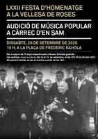 Roses homenatjarà la gent gran amb un concert de música popular el proper 26 de setembre