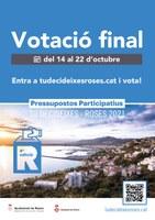 Roses obre la votació de les 11 propostes finalistes dels Pressupostos Participatius