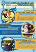 Salut personal i relacions familiars centren el II Cicle de Xerrades per a Famílies de l'institut Illa de Rodes