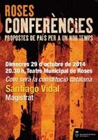 """Santiago Vidal participa en el cicle de conferències de Roses parlant de """"Com serà la constitució catalana"""""""