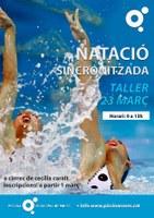 Taller de natació sincronitzada a la Piscina de Roses