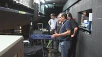 Tècnics de l'Ajuntament d'El Prat de Llobregat visiten les instal·lacions del Teatre Municipal de Roses