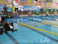 Trobada de natació per a discapacitats psíquics a Roses