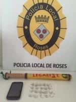 Un control de trànsit de la Policia Local de Roses possibilita una detenció per tràfic de drogues