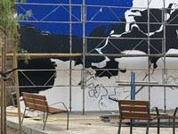 Un mural de grans dimensions inspirat en el fons marí presidirà la nova plaça de la Llotja